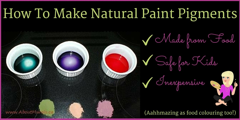 3 ramekins are filled with blue, purple and red natural paint pigments