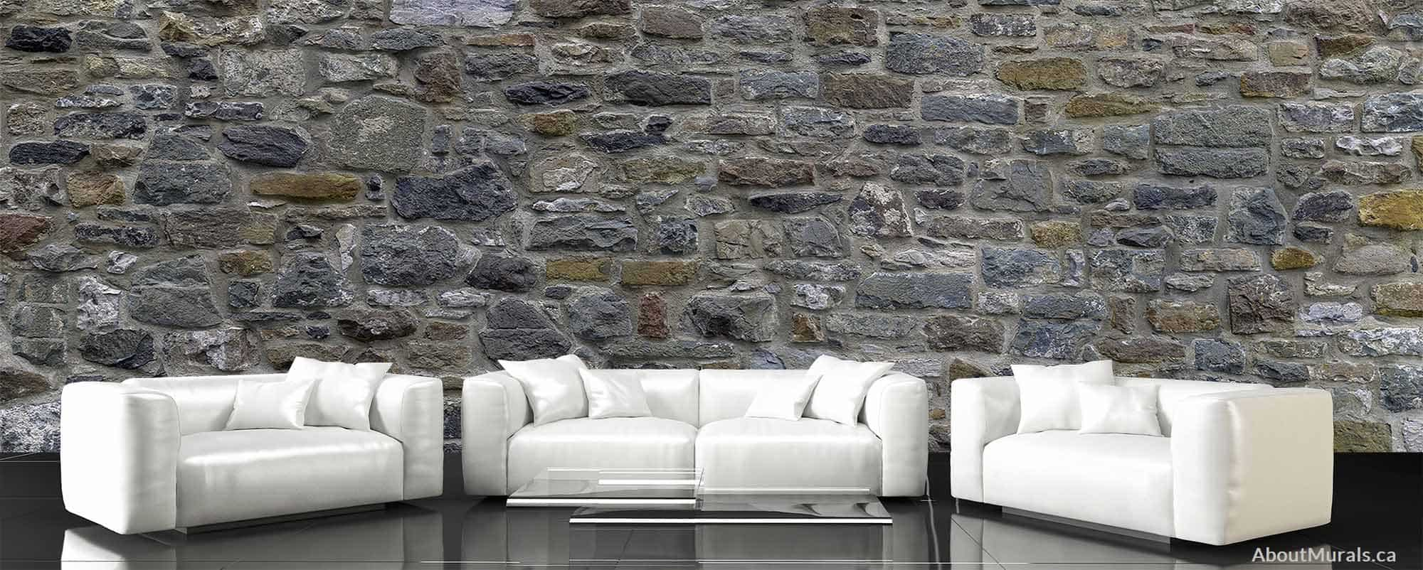 Stone Wall Mural Removable Wallpaper Sold By Aboutmurals Ca