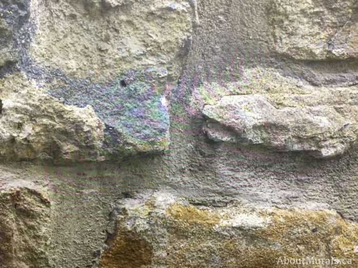 A stone wall mural close up photo, sold by AboutMurals.ca