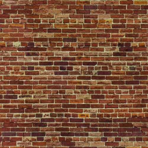 A brick wallpaper made from a high resolution photograph of an orange brick wall
