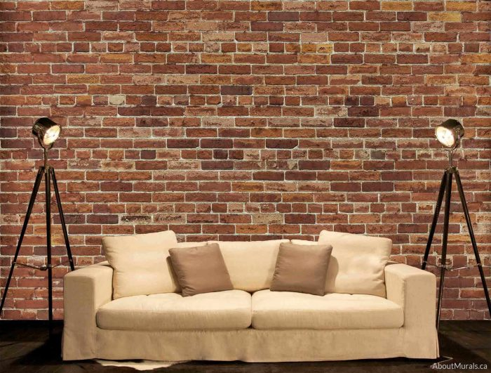 A removable wallpaper called Not Just Another Brick on the Wall Mural, sold by AboutMurals.ca