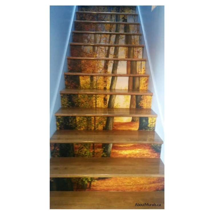 Path of Light wall mural with an autumn themed design, sold by AboutMurals.ca