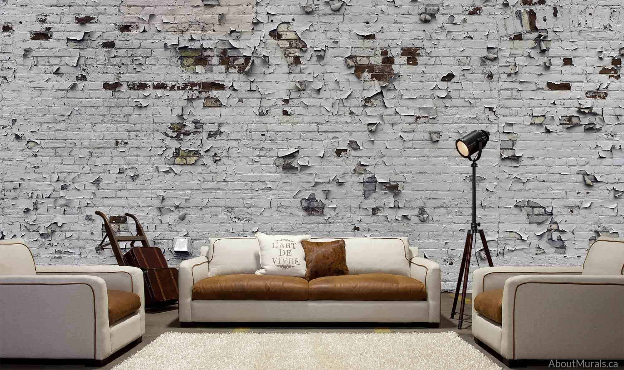 Peeling Paint Brick Wallpaper Removable Wallpaper From
