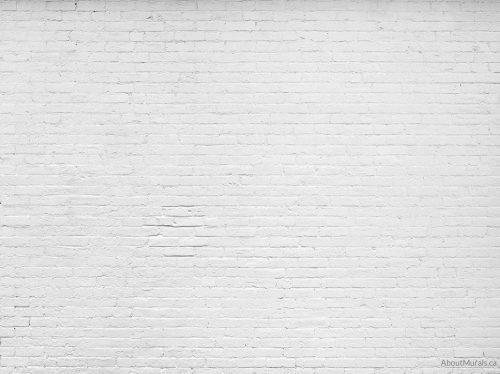A white brick wallpaper