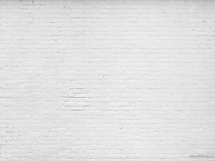 A white brick wall mural sold by AboutMurals.ca