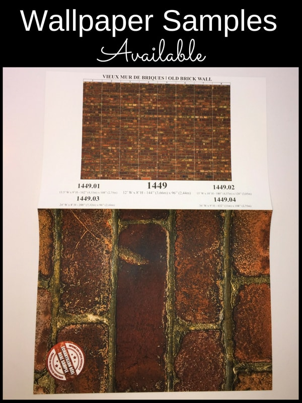 Samples available of this brick wallpaper