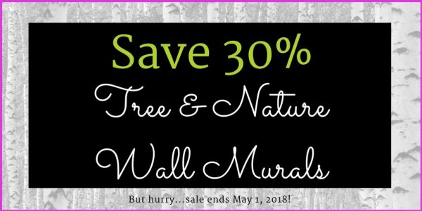 Save 30% on all Forest Wallpaper from AboutMurals.ca