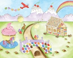 Kids Wall Murals - Featured Wallpaper - Candy World by AboutMurals.ca