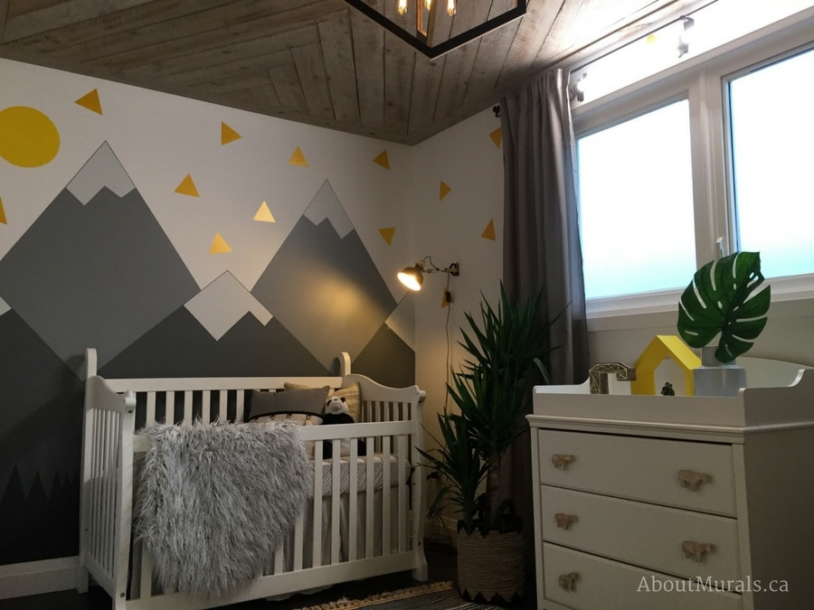 Create a DIY mountain mural just like Adrienne of AboutMurals.ca did for the Holmes Next Generation TV show