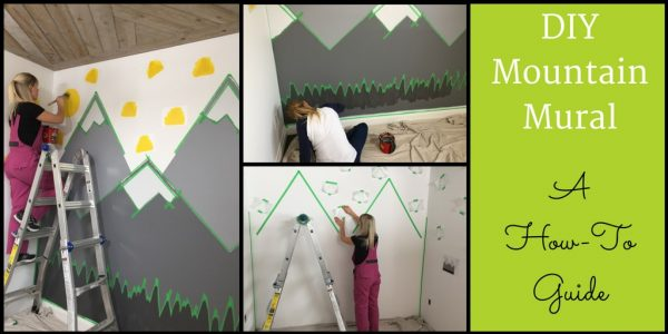 DIY Mountain Mural - Blog Header