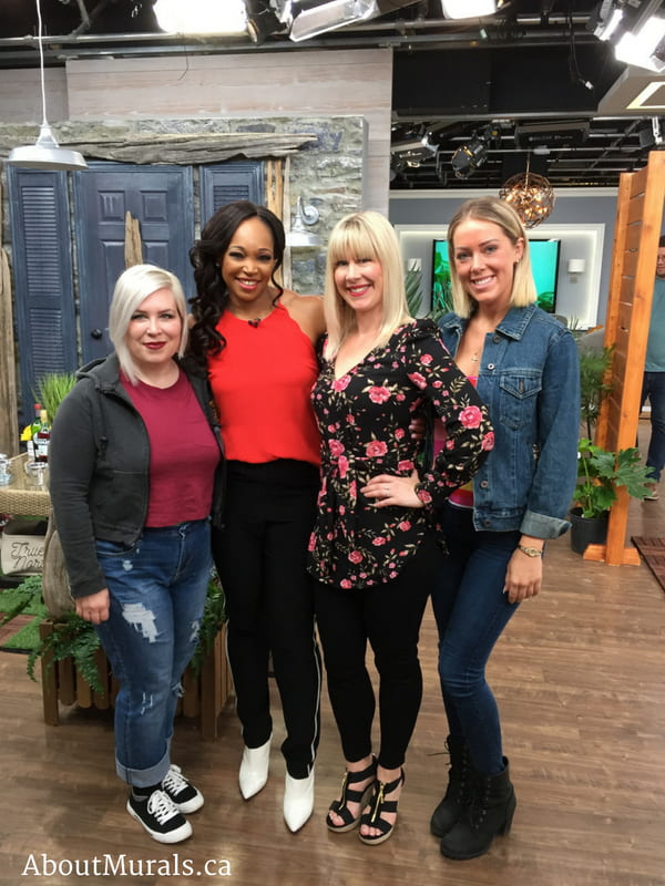 Adrienne of AboutMurals.ca with Tracy Moore on Cityline
