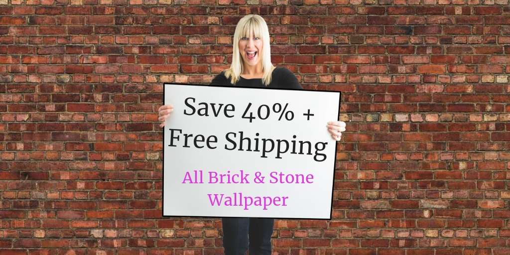 Brick Wallpaper Sale - Save 40% plus free shipping on all brick wallpaper at AboutMurals.ca