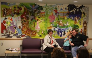 A fairytale wall mural found in a hospital waiting room, sold by AboutMurals.ca